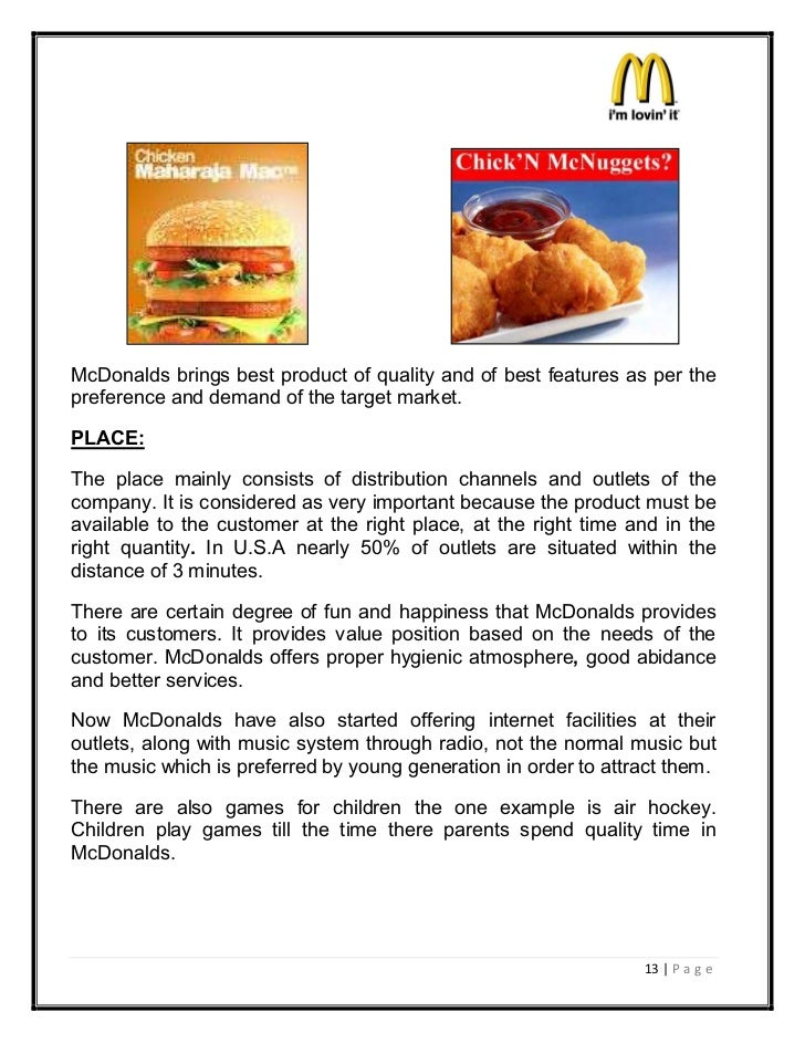 a overview of mcdonalds definition of marketing Fast food market definition fast food restaurant fast food restaurants feature a common menu above the counter and provide no wait overview of fast food market.