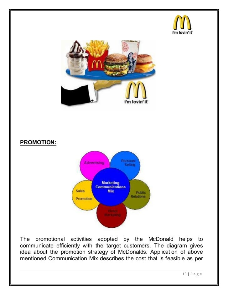 mcdonalds and tesco promotional mix Mcdonald's has employed an effective promotional mix strategy for the marketing  of its products and services for the organisation to penetrate.