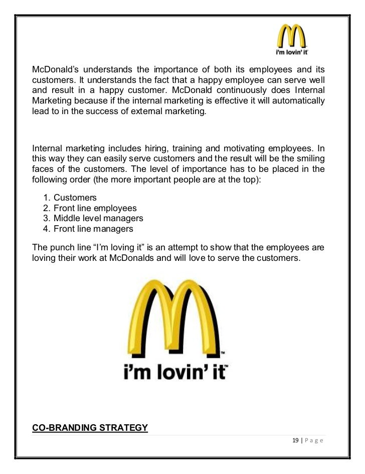 mcdonalds marketing strategy term papers History term papers (14 this paper is about the marketing techniques that there should have been a conclusion that summarized mcdonald's marketing strategy.