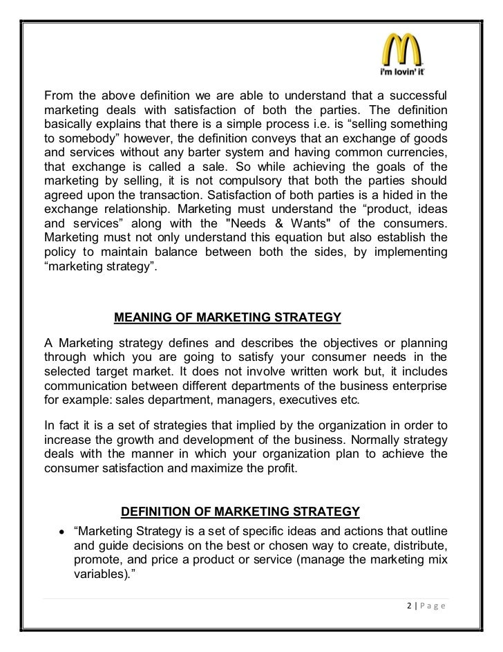 project on mcdonalds marketing mix Read this essay on mcdonalds marketing plan submission of the project work on the marketing plan of marketing mix mcdonaldsthe marketing mix.