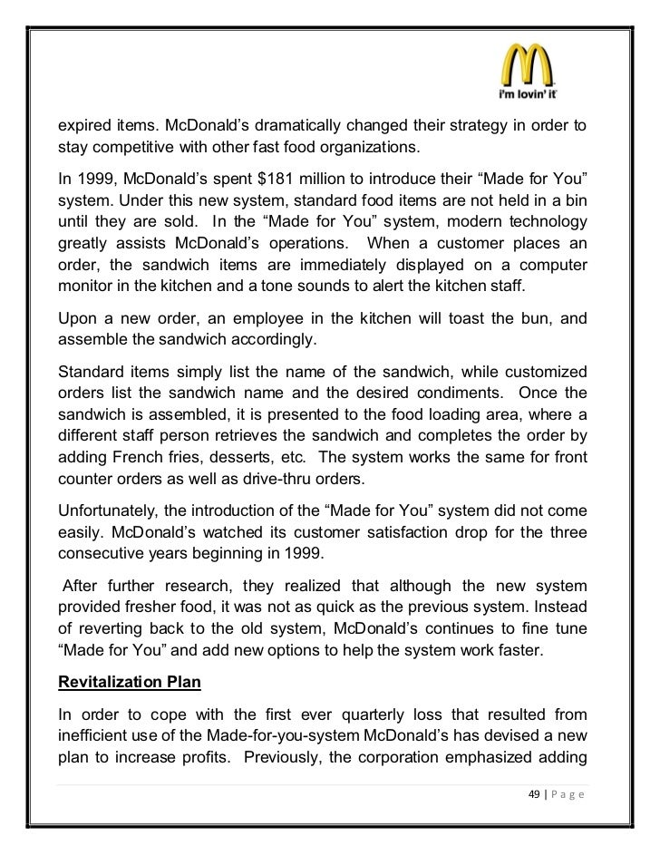 mcdonalds essay introduction Open document below is an essay on burger king vs mcdonalds from anti essays, your source for research papers, essays, and term paper examples.