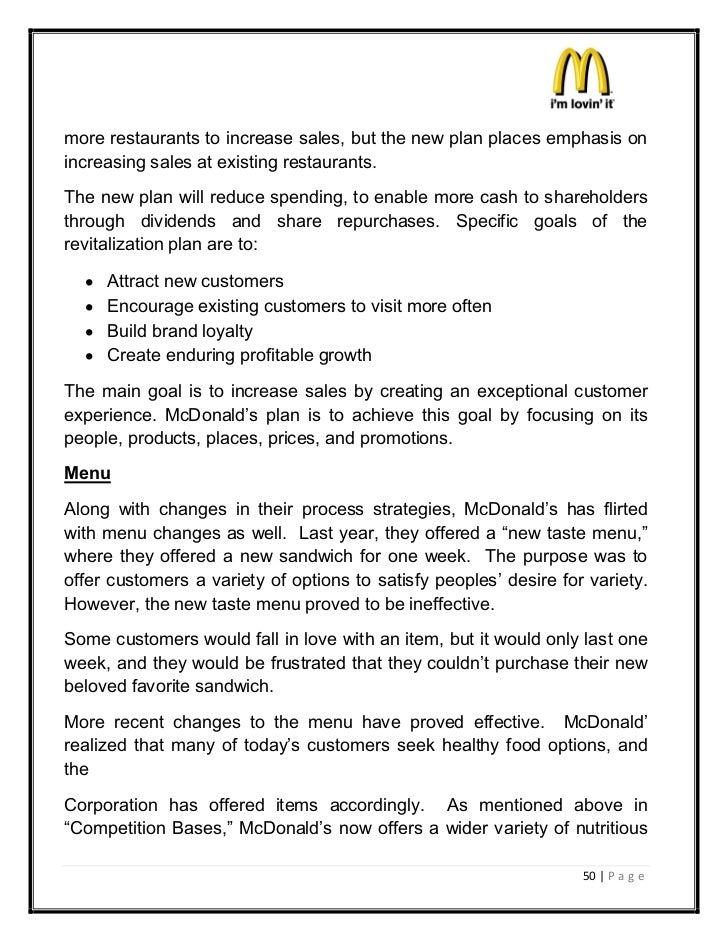 Mcdonald Business Plan