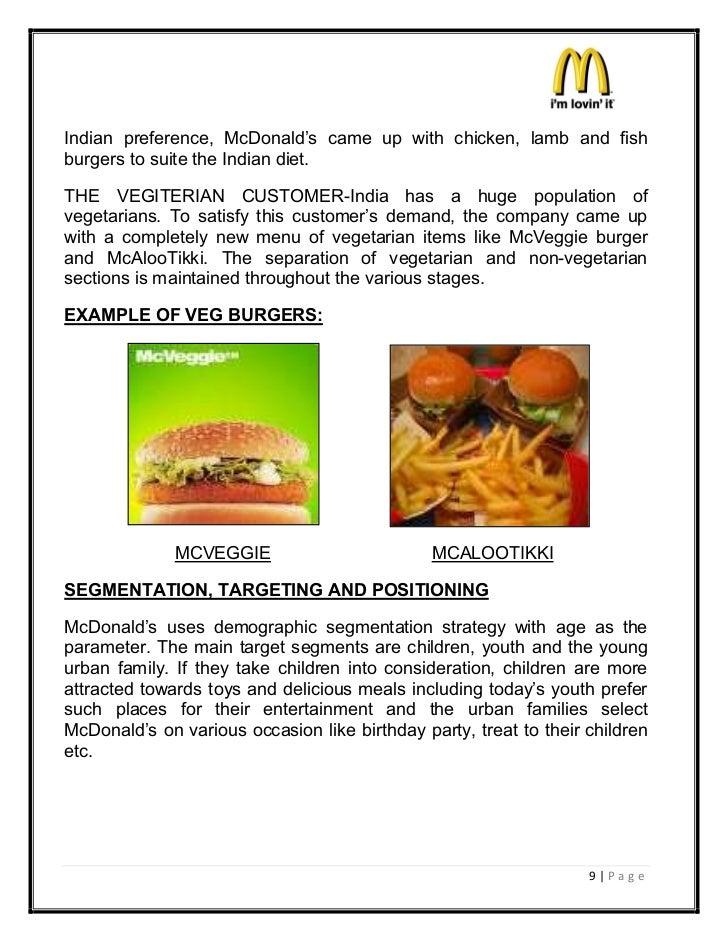 the strategies of mcdonalds