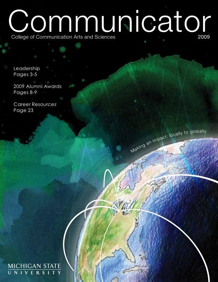 Communicator CollegeofCommunicationArtsandSciences                                                        2009     Le...