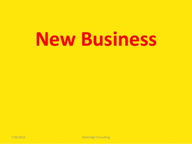 BOLO 2013 3P Track: New Business