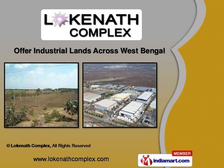 Offer Industrial Lands Across West Bengal