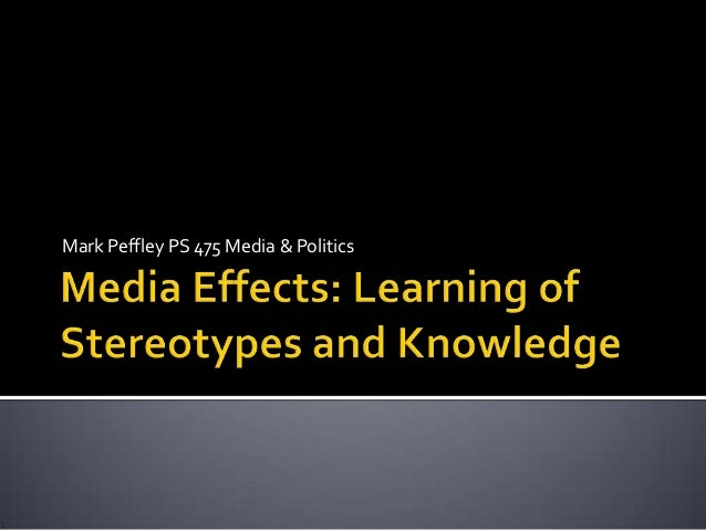 effects of media stereotyping Latino decisions and nhmc completed a two-‐part, multi-‐method research  project examining the impact of media narratives and stereotypes of immigrants  and.