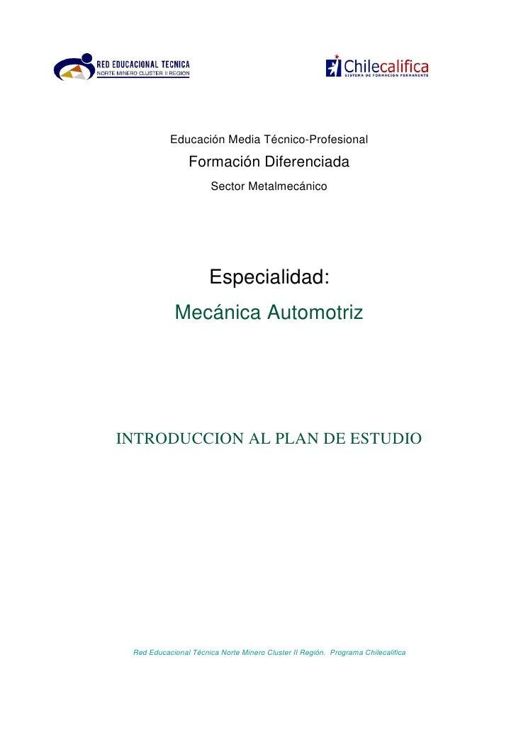 Educación Media Técnico-Profesional                 Formación Diferenciada                        Sector Metalmecánico    ...