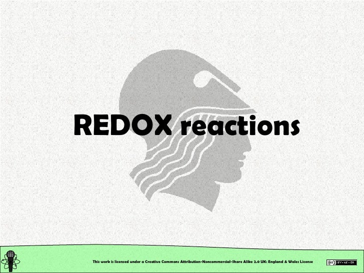 Chemical Reactions: Redox Reactions