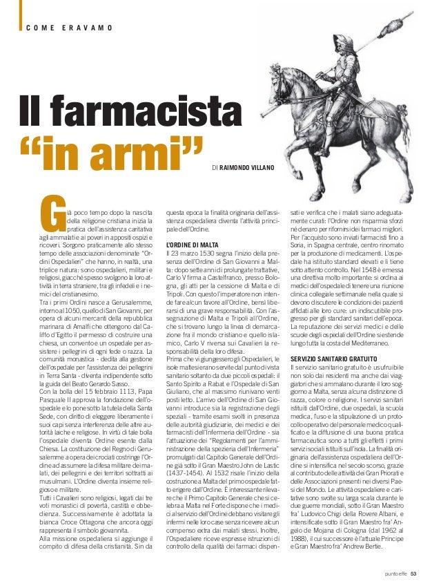 Raimondo Villano - Le origini del farmacista ospitaliero