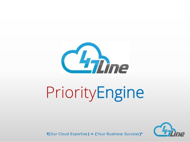 PriorityEngine f(Our Cloud Expertise) = (Your Business Success)n