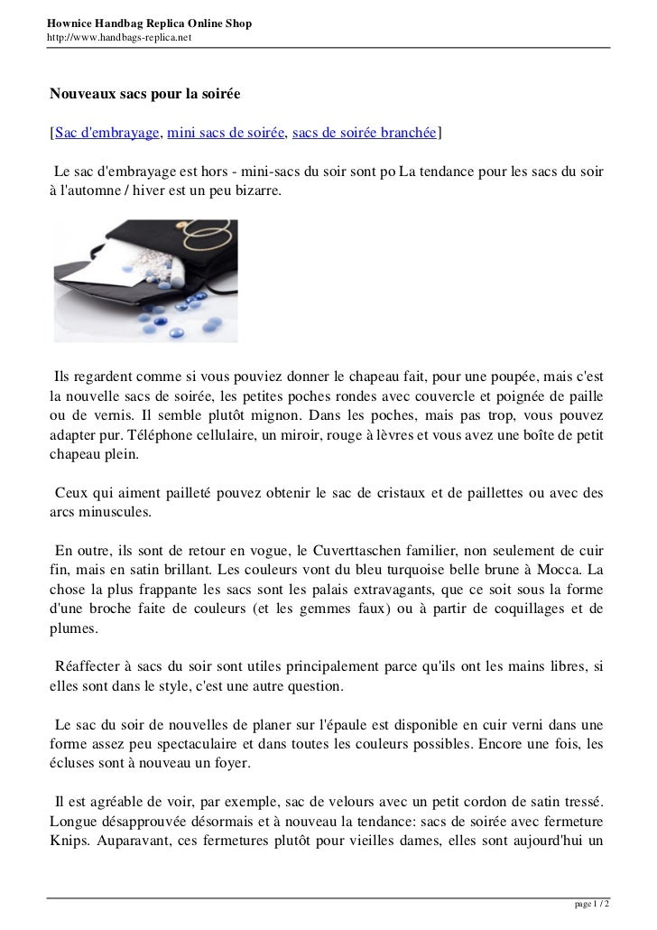 Hownice Handbag Replica Online Shophttp://www.handbags-replica.netNouveaux sacs pour la soirée[Sac dembrayage, mini sacs d...