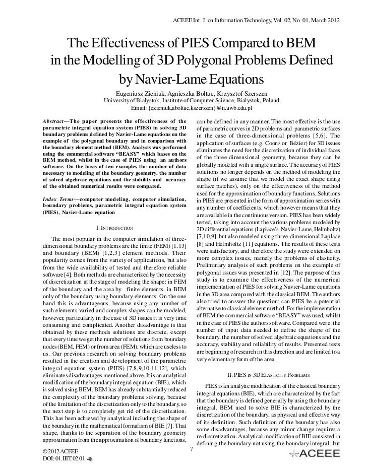 The Effectiveness of PIES Compared to BEM in the Modelling of 3D Polygonal Problems Defined by Navier-Lame Equations
