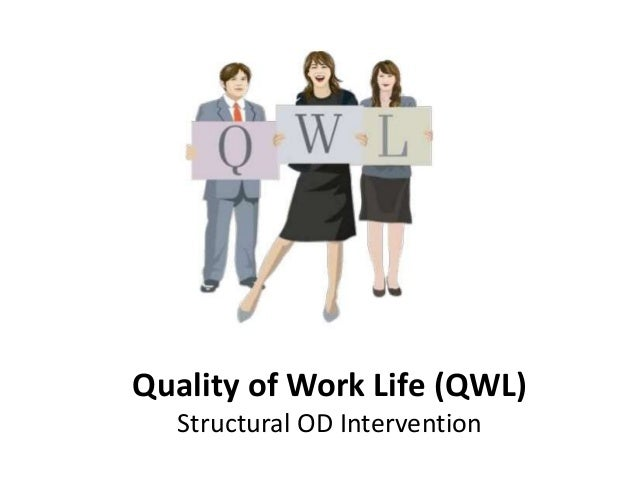 quality of work life Work in this thematic area will focus on the development of healthy workplaces,  defined by the quality worklife- quality healthcare collaborative as a work.