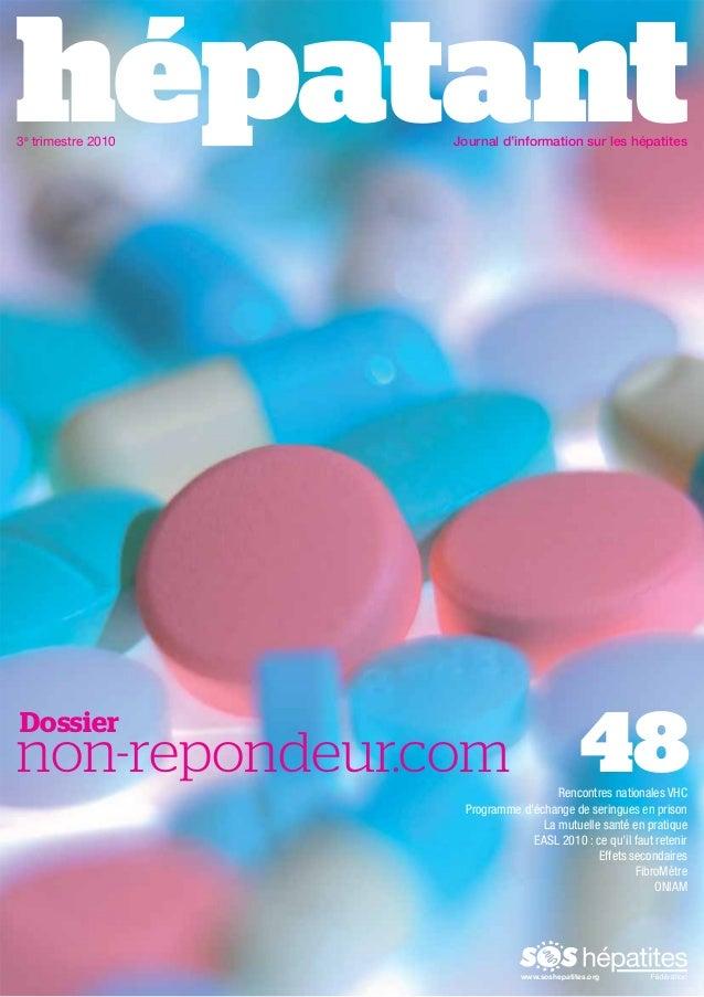 3e trimestre 2010  Journal d'information sur les hépatites  Dossier  48  non-repondeur.com  Rencontres nationales VHC Prog...