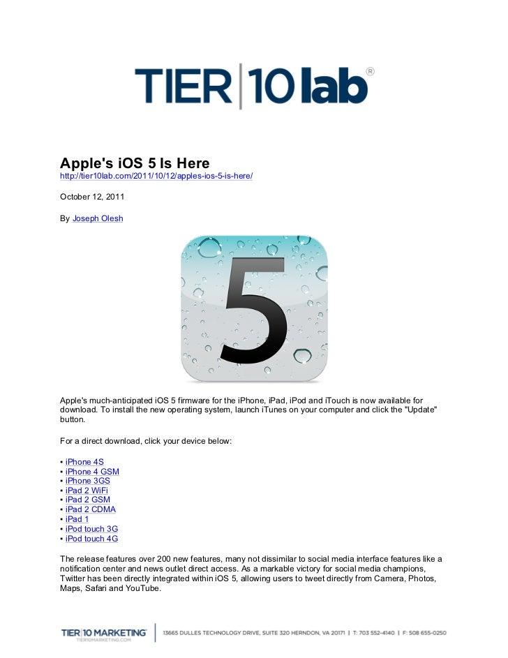 Apple's iOS 5 Is Here