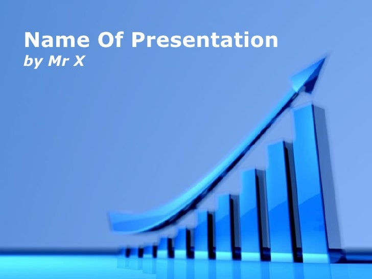 Blue Arrow Business Growth Free Powerpoint Template