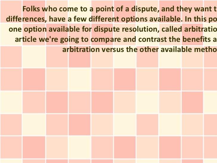 Dispute Resolution: The Mediation Proceeding
