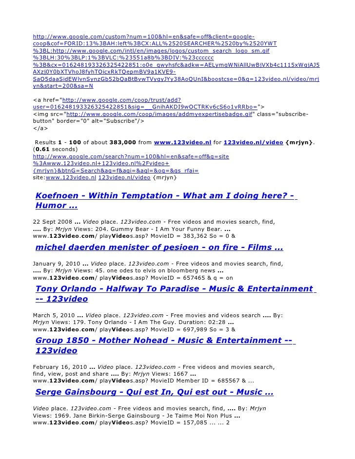 123video.nl/video/mrjyn - Google Search Results 1 - 100 of about