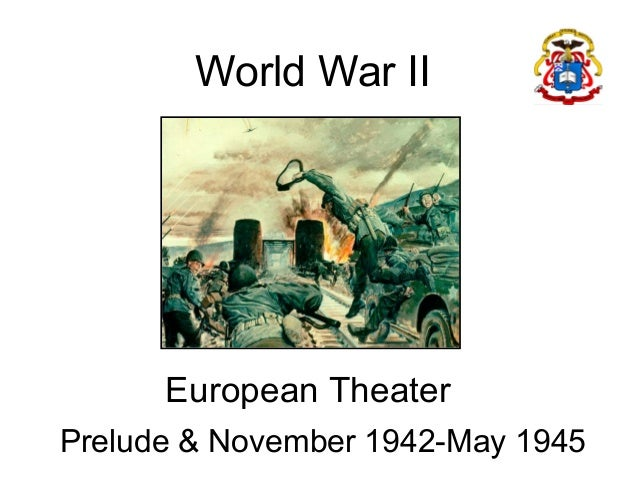 Map of WWII  Europe theatre