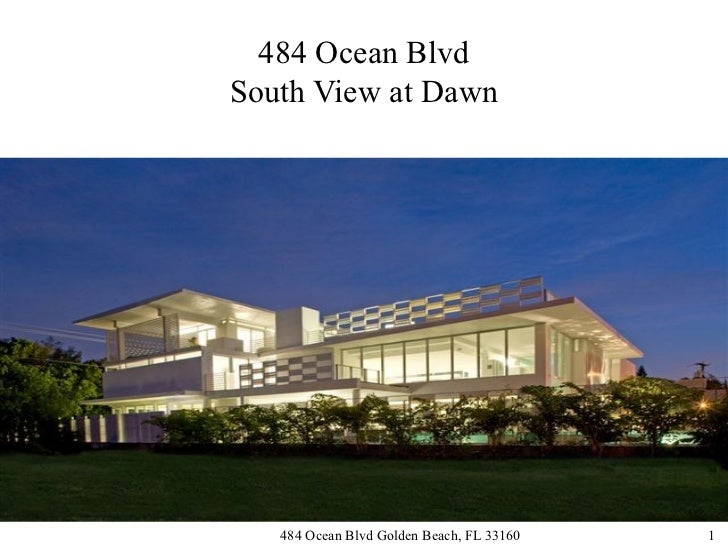 484 Ocean BlvdSouth View at Dawn   484 Ocean Blvd Golden Beach, FL 33160   1