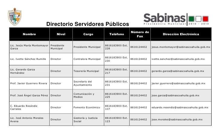 Directorio Servidores Públicos