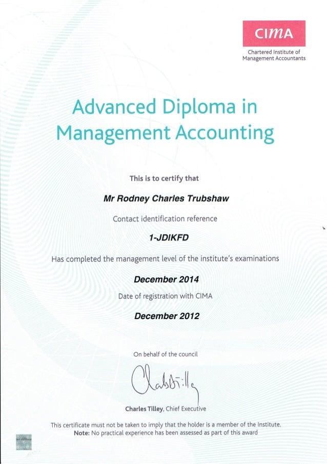 Cima Certificate