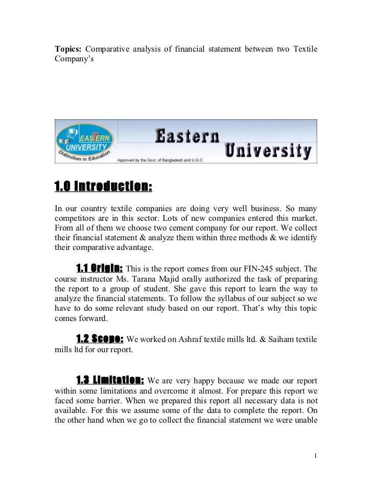 Annual report analysis college essay