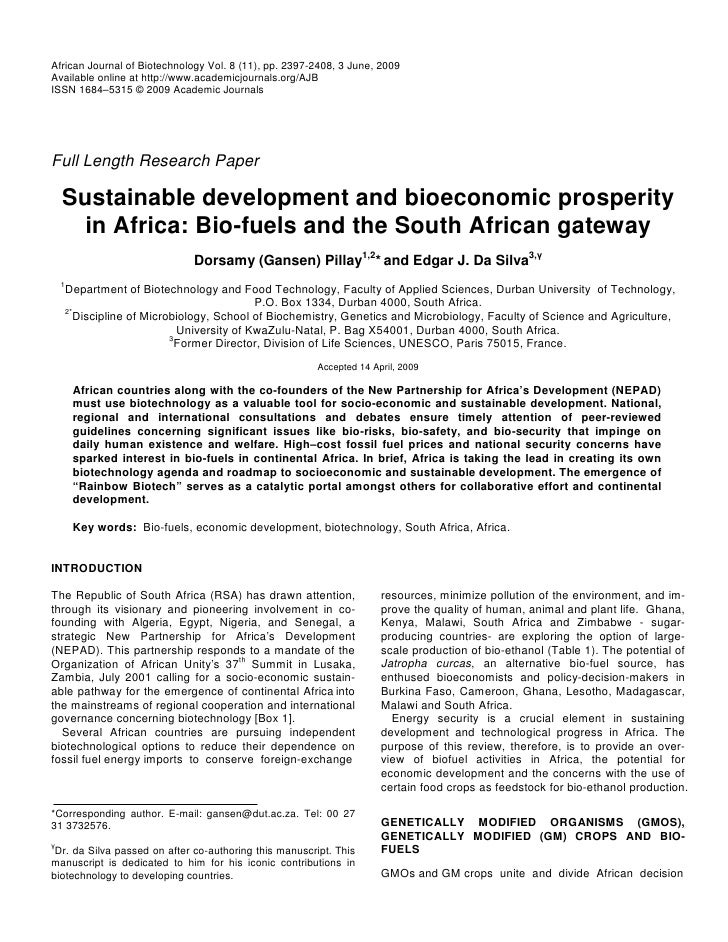 African Journal of Biotechnology Vol. 8 (11), pp. 2397-2408, 3 June, 2009Available online at http://www.academicjournals.o...