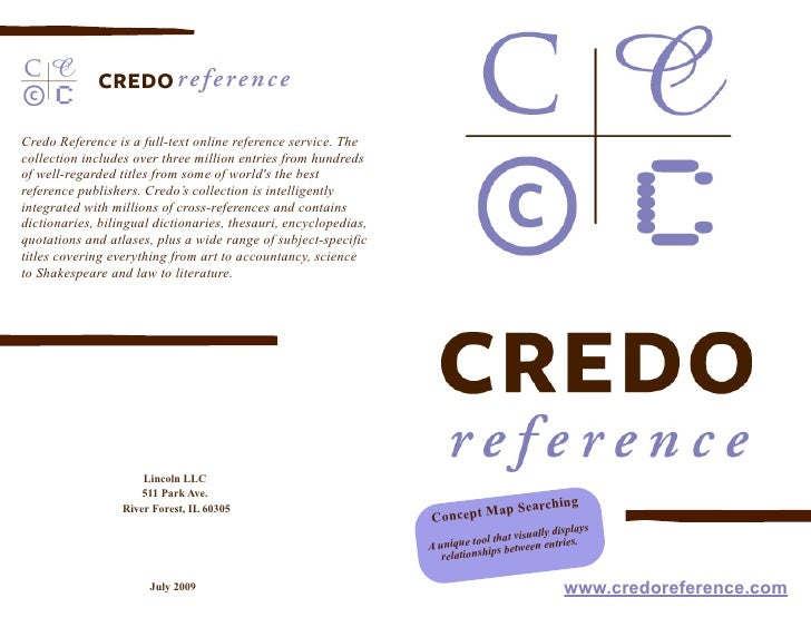 credo ref flyer