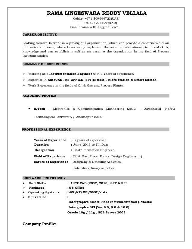 spi 3 years resume