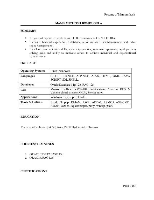 28 itil certified resume vishal guleria itil certified