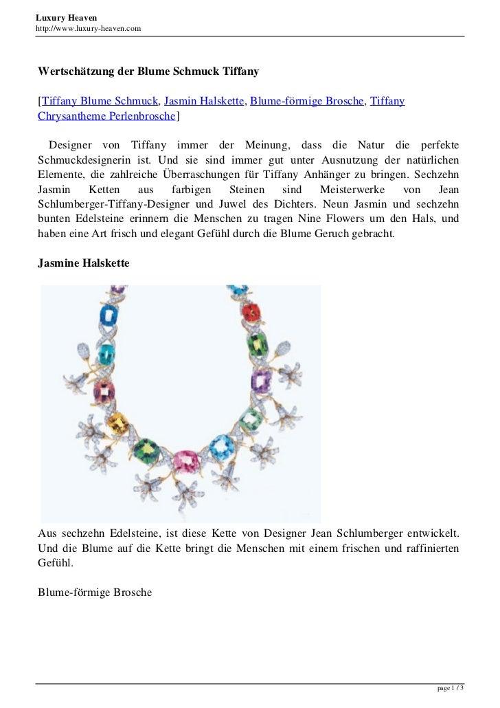 Luxury Heavenhttp://www.luxury-heaven.comWertschätzung der Blume Schmuck Tiffany[Tiffany Blume Schmuck, Jasmin Halskette, ...