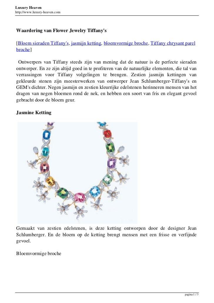 Luxury Heavenhttp://www.luxury-heaven.comWaardering van Flower Jewelry Tiffanys[Bloem sieraden Tiffanys, jasmijn ketting, ...
