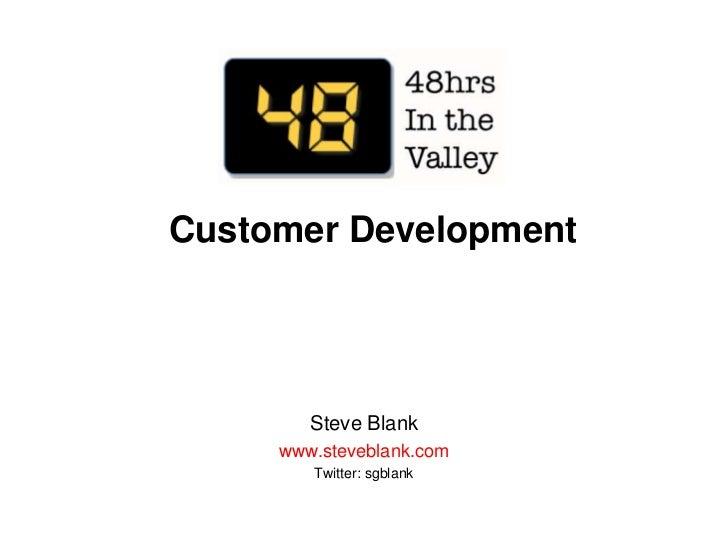 48 hours customer development