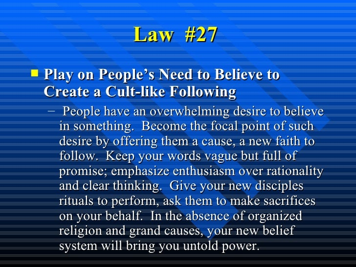 list of 48 laws of power pdf