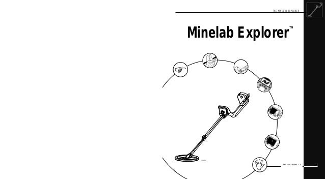 Instruction Manual Minelab Explorer S & XS Metal Detectors