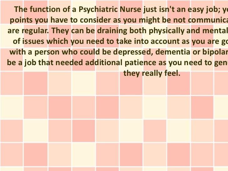 Become a Psychiatric Nurse