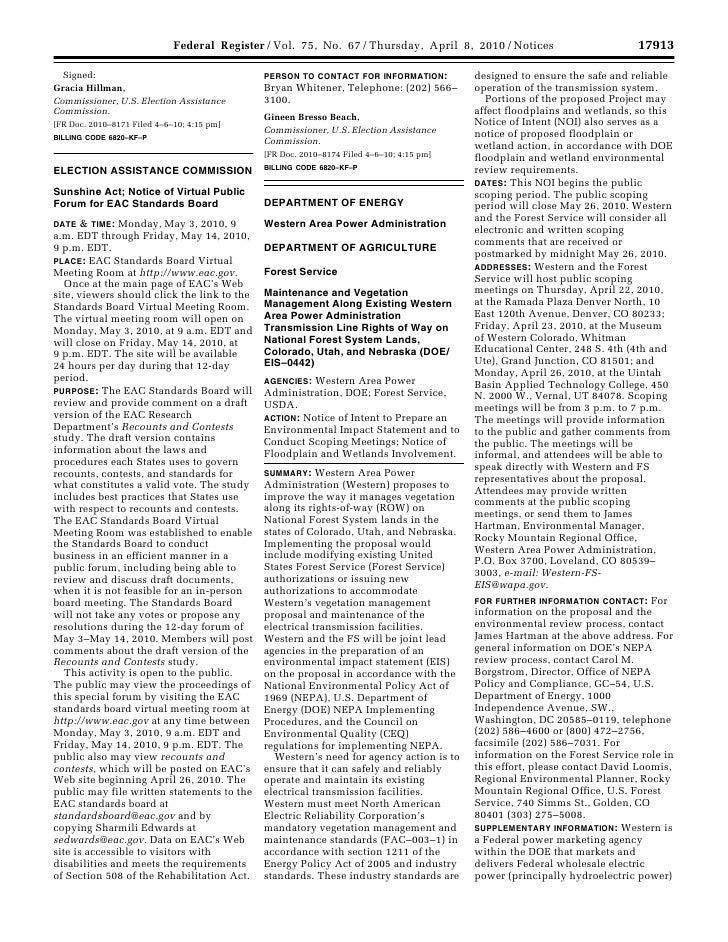 NOI - Transmission Lines on Forest Service Lands (CO, UT, NE)
