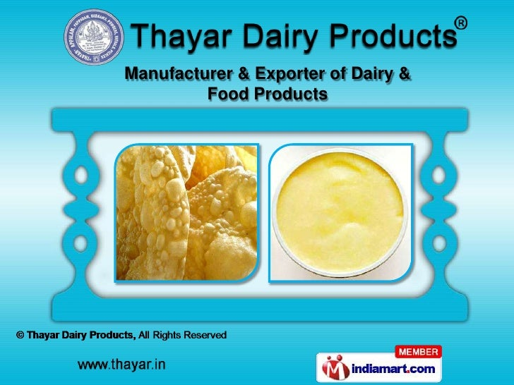 Manufacturer & Exporter of Dairy &         Food Products