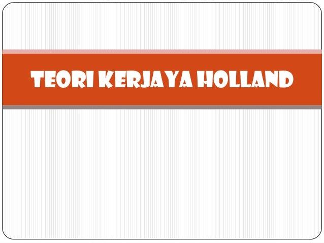 TEORI KERJAYA HOLLAND