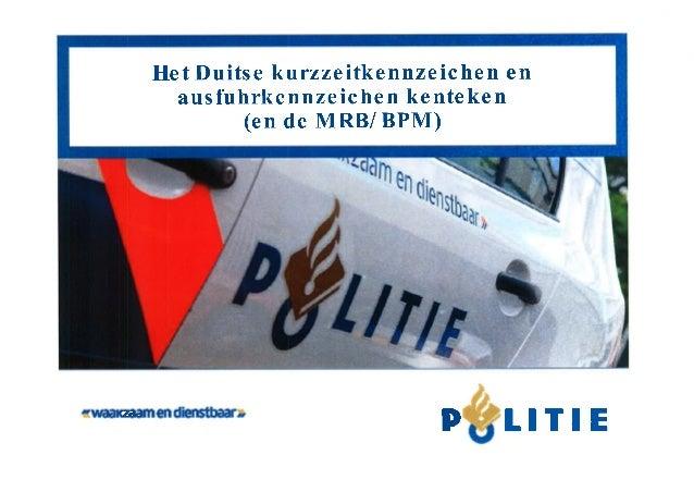 Uitgelekt document Politie: Duits Exportkenteken