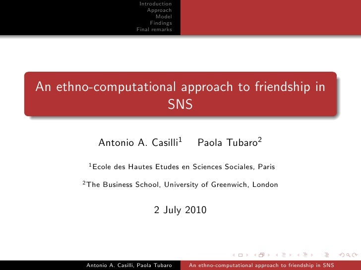 An ethno-computational approach to friendship in SNS