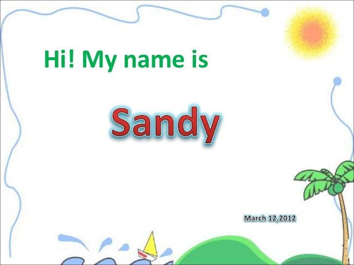 Hi! My name is