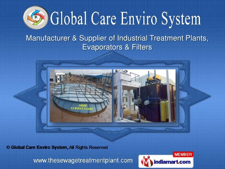 Manufacturer & Supplier of Industrial Treatment Plants,                Evaporators & Filters