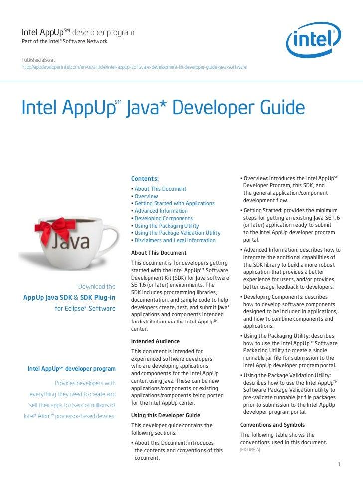 Intel AppUpSM developer programPart of the Intel® Software NetworkPublished also at:http://appdeveloper.intel.com/en-us/ar...