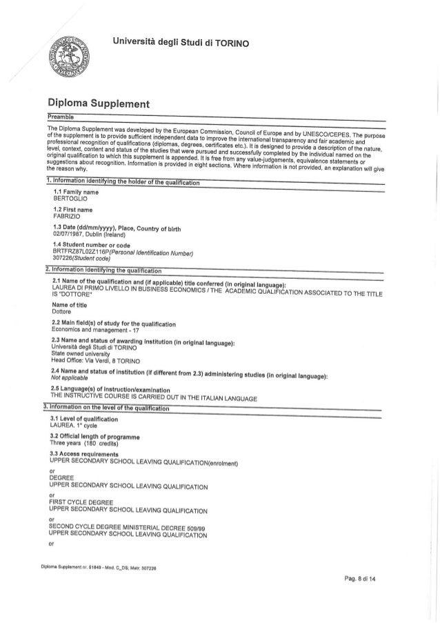 Bachelor's Degree (mit Spanisch Englisch Prüfung)