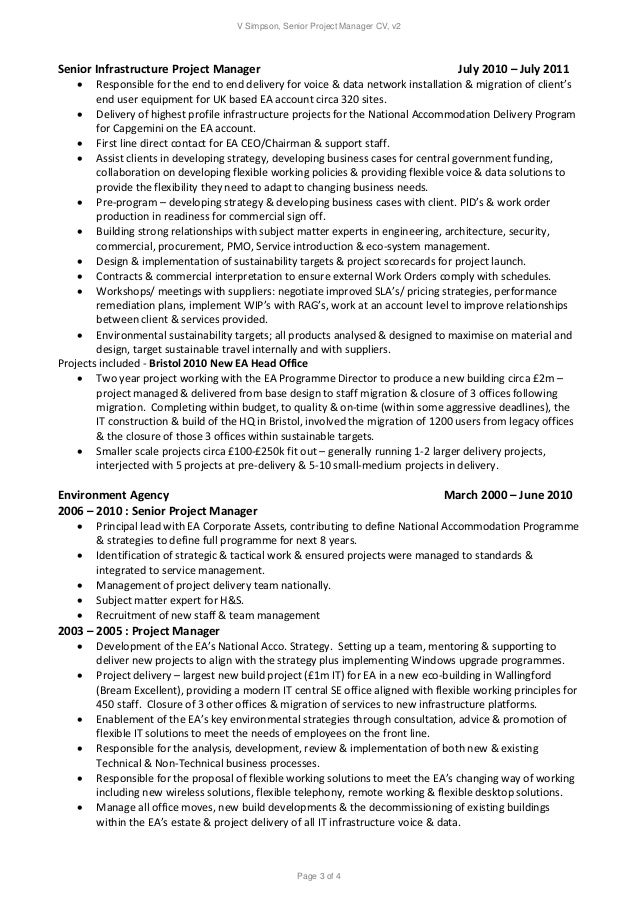 V Simpson Senior Project Manager Resume v 2