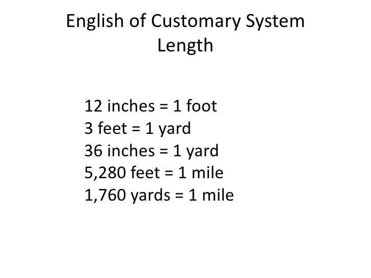 Customary Length Conversion Chart 4a- converting - measurements -