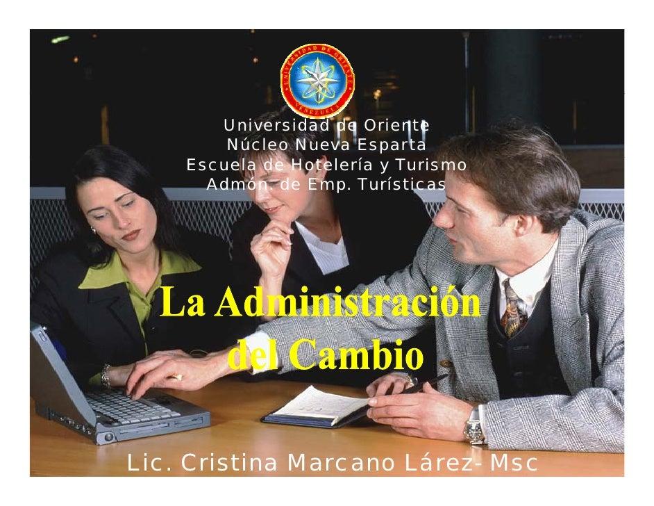 Universidad de Oriente         Núcleo Nueva Esparta     Escuela de Hotelería y Turismo       Admón. de Emp. Turísticas    ...